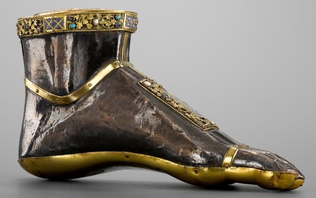 Reliekhouder van de heilige Jacobus de Meerdere in de vorm van een voet