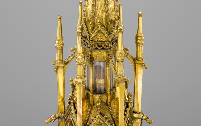 Grote torenreliekhouder van de heilige Nicolaas