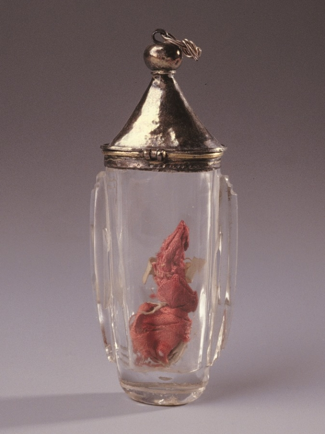 Flask reliquary in rock crystal