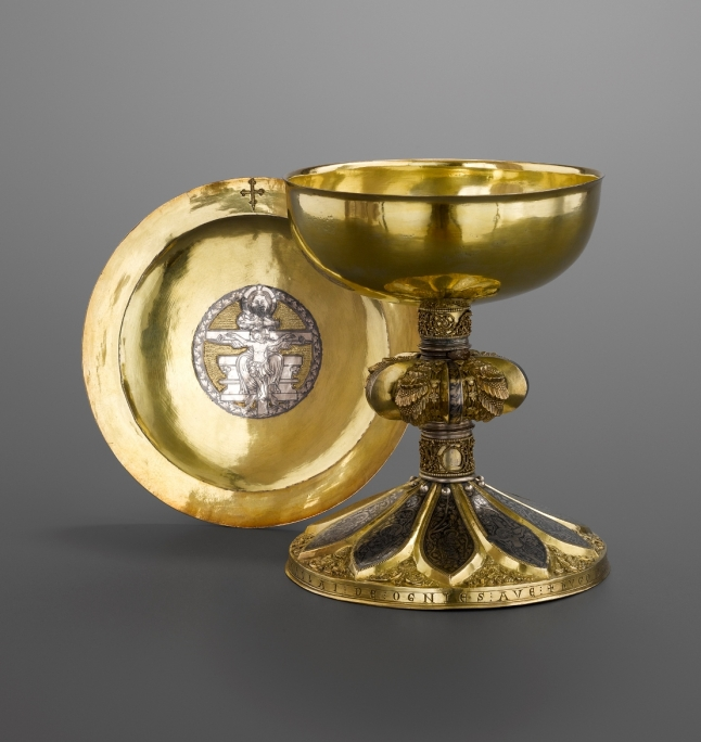 Chalice, said to have belonged to Gilles de Walcourt, and paten