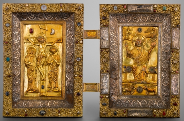 Evangeliary bookbinding plates