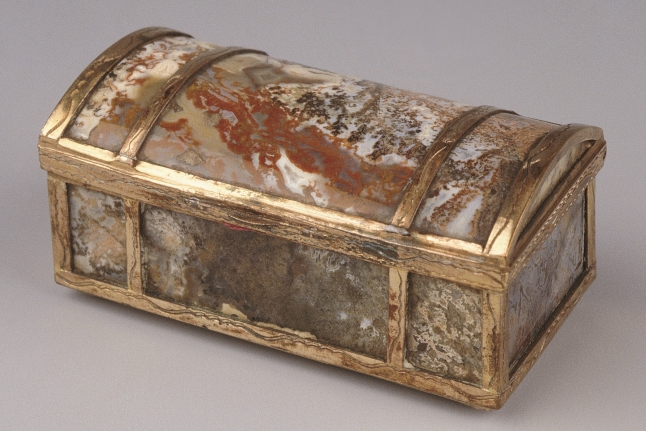 Small, rectangular casket